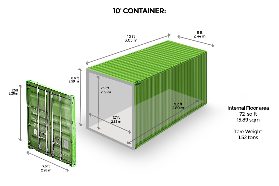 Specialized 10' <br> Container