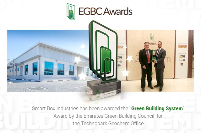 Smart Box Wins EGBC 2015 Award in Green Building System Category