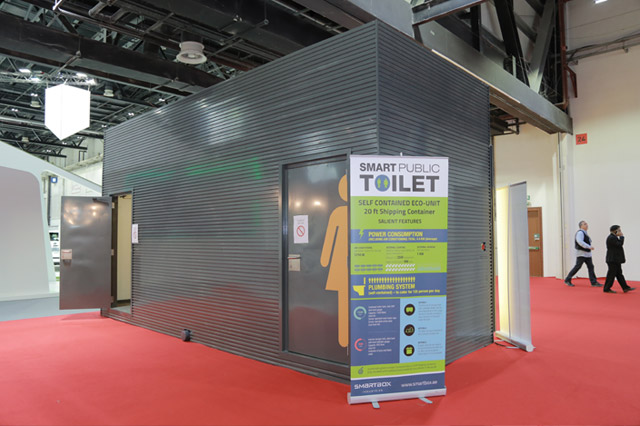 Smart Box Reveals Cutting Edge Pubic Toilet Concept for Smart Cities at WETEX 2015