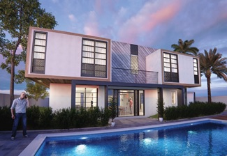 Green, Lean and Containerised  Villas for the Future